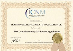Transformational Breath UK - Best Complementary Medicine Organisation - ICNM